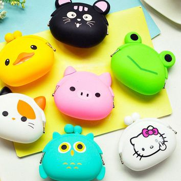 YOUYOU MOUSE Animals Girls Silicone Small Mini Coin Purse Change Wallet Purse Women Key Wallet Coin Bag Children Kids Gifts
