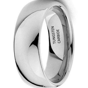 CERTIFIED 8mm Plain Tungsten Wedding Band