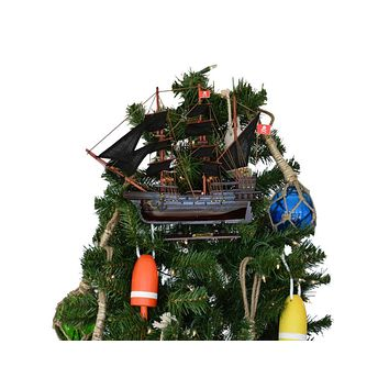 Wooden Henry Avery's The Fancy Pirate Ship Christmas Tree Topper Decoration