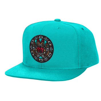 Mitchell & Ness Vancouver Grizzlies Solid Snapback In Teal