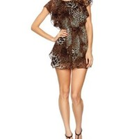 AX Paris Animal Print Elasticated Waist Chiffon Sleeveless Women's Dress: Amazon.co.uk: Clothing