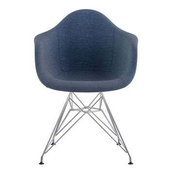 Mid Century Eiffel Arm Chair Dodger Blue