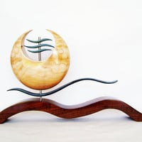 Oriental Style Wood Sculpture by TheArtistTerand on Etsy
