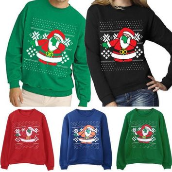 Gogoboi 2017 Xmas Sweaters Ugly Christmas Sweater Couple Matching Clothes Unisex Outfits for Lovers Women Men Autumn Winter NEW