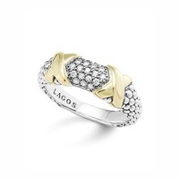 LAGOS 18K Gold and Sterling Silver Diamond Ring | Bloomingdales's