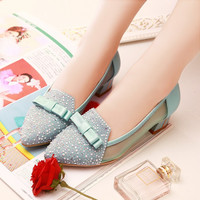 Oxford Bowknot heeled shoes 3178NJ