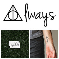Harry Potter - Always - Temporary Tattoo (Set of 2)