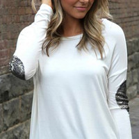PRE-ORDER Not Your Boyfriend Top: White | Pretty Edgy