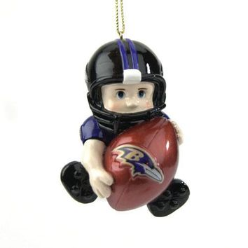 Baltimore Ravens NFL  inchesLil Fan inches Player Ornament (3 inches)