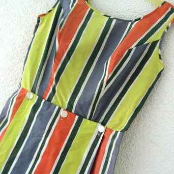 60s Romper of Cuteness  Pin Up Playsuit Vintage by JoulesVintage