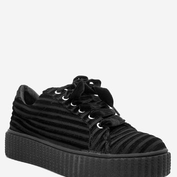 Faux Suede Lace Up Sneakers