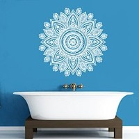 Wall Decal Vinyl Sticker Decals Art Decor Design Mandala Ganesh Indian Ornament Buddha Pattern Damask Bedroom Family Gift Dorm Modern(r1430)