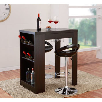 Landyn Side Panel Wine Rack Bar Table