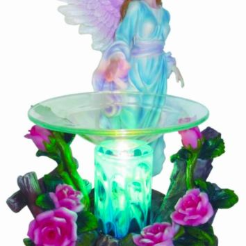 Fairy Angel Table Fragrance Aroma Lamp Oil Diffuser Wax Tart Candle Warmer Burner Home Decor