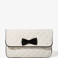 Quilted Bow Clutch