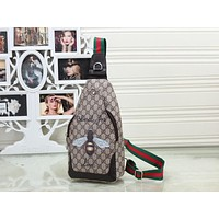 GUCCI Fashion Leather Crossbody Satchel Shoulder Bag Chest Bag
