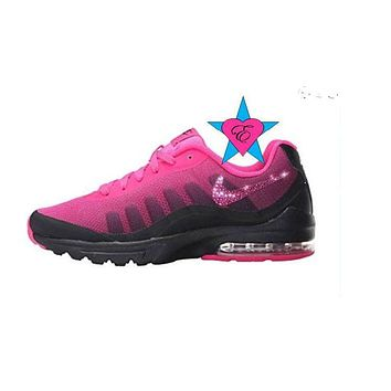 fc8848307e50 Custom Crystal Bedazzled Pink Black Women Nike Air Max Invigor P