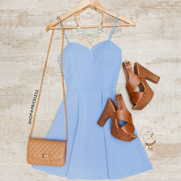 Elsa Skater Dress - Periwinkle