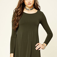 Scoop-Back Swing Dress
