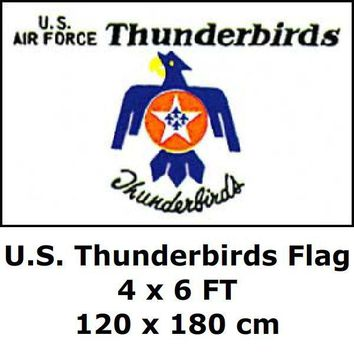 U.S. Thunderbirds Flag 4` x 6` FT 100D Polyester Large USA US United States American Army Air Force Flags and Banners