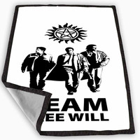 supernatural team free will Blanket for Kids Blanket, Fleece Blanket Cute and Awesome Blanket for your bedding, Blanket fleece *