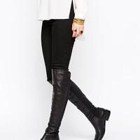 Oasis Premium Over The Knee Flat Boots