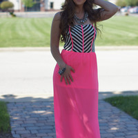 My Favorite Color Is Neon Maxi Dress