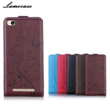 "Butterfly Painted For Xiaomi Redmi 3 Case 5.0"" Leather Cover Flip Vertical Phone Bags & Cases For Xiaomi Redmi 3 Redmi3 Hongmi 3"