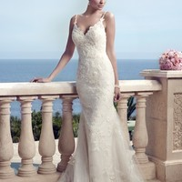 Casablanca Bridal 2153 Lace Mermaid Wedding Dress