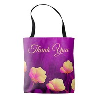 Amethyst Violet Purple Floral Tote Bag