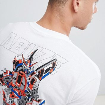 Abuze LDN Tube Bot Back Print T-Shirt at asos.com