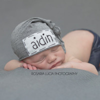 newborn personalized hat- personalized newborn hat - baby gifts - baby boy - baby girl - name hat - baby beanie - hospital hat