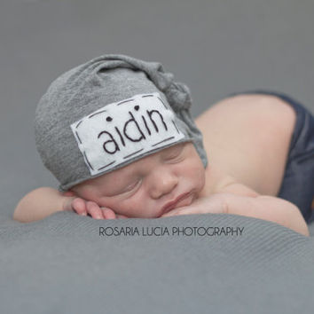 newborn personalized hat- personalized newborn hat - baby gifts - baby boy  - baby girl 72358b00ca7