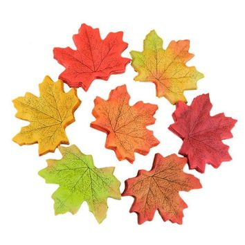 50Pcs lot Artifical Maple Leaves Fake Autumn Fall Leaf Wedding Party Decoration Craft Art Home Bedroom Wall Book Decor