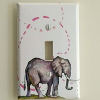 Elephant Decorative Light Switch Plate Cover Made From by idillard