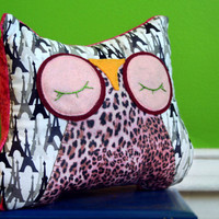 Stuffed Owl Animal Pillow  Sleepy Snuggle for your by MioBabyVerdi