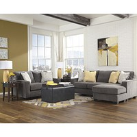 Signature Design by Ashley Hodan Living Room Set in Microfiber