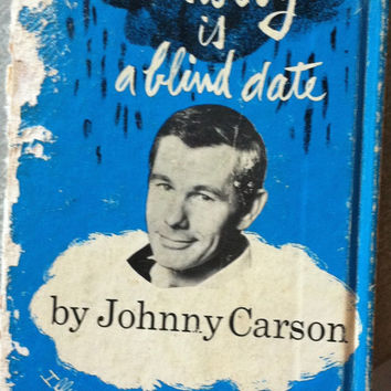 Misery is a Blind Date by Johnny Carson and Illustrated by Whitney Darrow Junior Vintage 1960s Cartoon Illustrations Funny Book