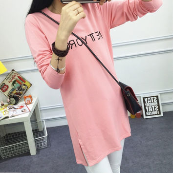 New Autumn Winter Women's Casual Loose Long Sleeve T-Shirt Comfortable Tee Gift 193