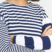 BDG Colour Blocked Striped Long Sleeve Shirt | Urban Outfitters