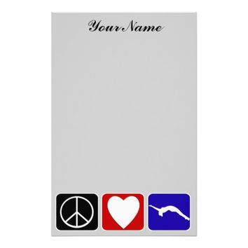 Peace Love Tumble Stationery