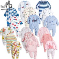 Baby Bodysuits Retail 3pcs/pac 0-12moths long-Sleeved jumps