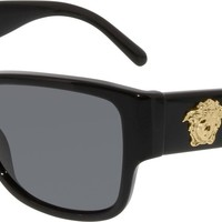Versace Women's VE4275-GB1/81-58 Black Butterfly Sunglasses