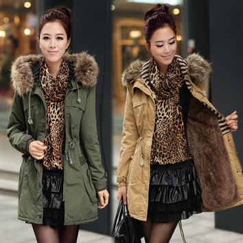 Plus Size Padded Winter Cotton Coat [9126646284]