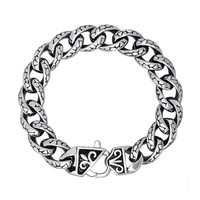 Hot Sale Great Deal Shiny Gift Awesome New Arrival Vintage Strong Character Stylish Korean Men Accessory Silver Leopard Titanium Bracelet [6526709187]