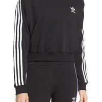 adidas Originals 3-Stripes Crop Sweatshirt | Nordstrom
