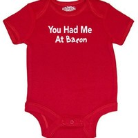 Riverstone Goods You Had Me At Bacon Funny Trendy Baby Infant Short Sleeve Bodysuit Creeper
