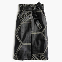 J.Crew Womens Collection A-Line Midi Skirt In Swirl Jacquard