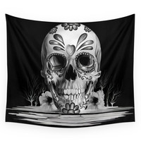 Society6 Pulled Sugar, Day Of The Dead Skull Wall Tapestry