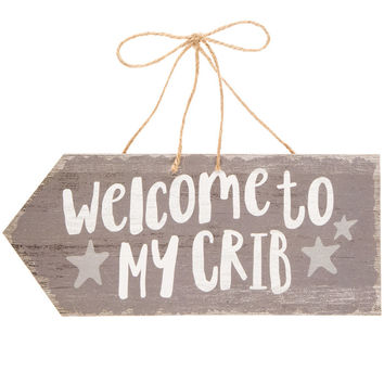 Welcome To My Crib Wood Wall Decor | Hobby Lobby | 1474824